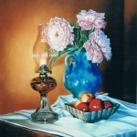 Oil Lamp and Vase                  Oil on Panel