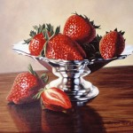 Strawberries    Genesis on Panel